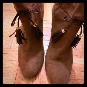 Louise Et Cie Suede Boots W/Leather Tassle Size 9